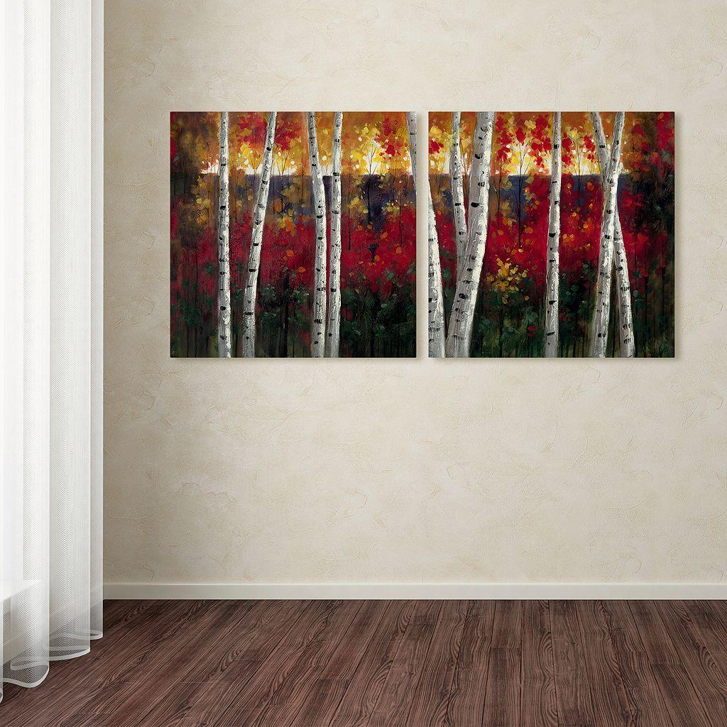 Trademark Fine Art ''Autumn'' 2-pc. Wall Art Set