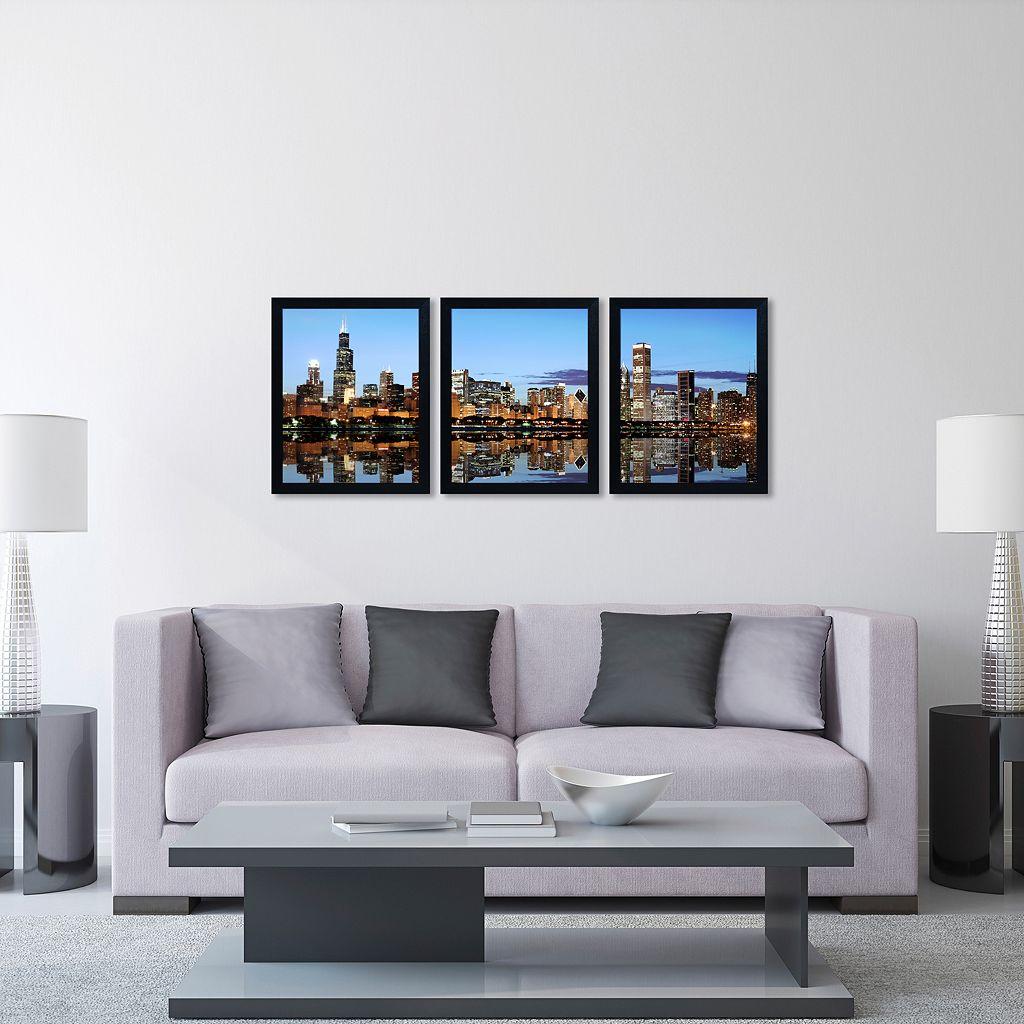 Trademark Fine Art ''Chicago IL'' 3-pc. Wall Art Set
