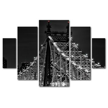 Trademark Fine Art ''Queensborough Bridge'' 5-pc. Wall Art Set
