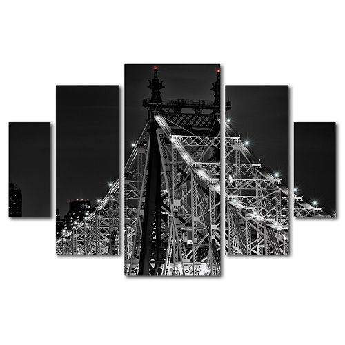 Trademark Fine Art ''Queensborough Bridge'' 5-pc. Wall Art Set