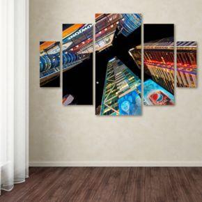 Trademark Fine Art ''Times Square NYC'' 5-pc. Wall Art Set