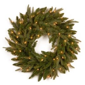 24-in. Pre-Lit ''Feel Real'' Fraser Grande Artificial Wreath