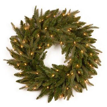 24-in. Pre-Lit ''Feel Real'' Fraser Grande Artificial Wreath