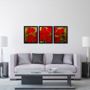 Trademark Fine Art ''Poppies'' 3-pc. Framed Wall Art