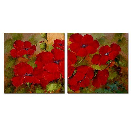Trademark Fine Art ''Poppies'' 2-pc. Wall Art Set