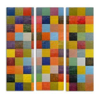 Trademark Fine Art ''Collage Color Study Sketch'' 3-pc. Wall Art Set