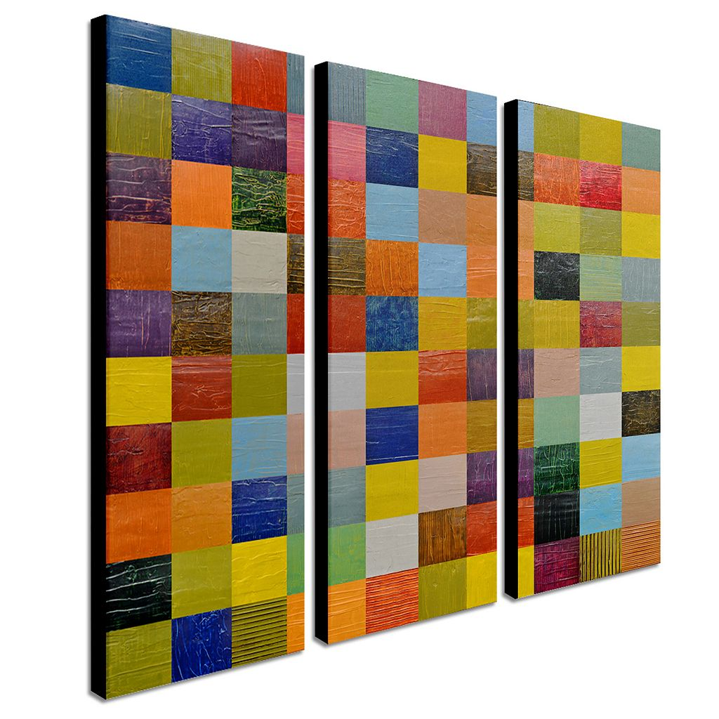 Trademark Fine Art ''Collage Color Study Sketch'' 3-pc. Wall Art Set