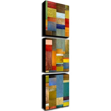 Trademark Fine Art ''Color Panels With Blue Sky'' 3-pc. Wall Art Set