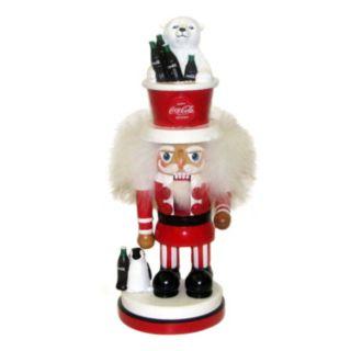 Coca-Cola Polar Bear Hat Nutcracker