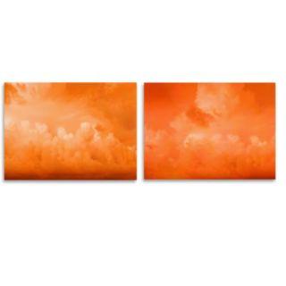Trademark Fine Art ''Orange Clouds'' 2-pc. Wall Art Set