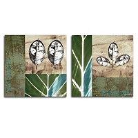 Trademark Fine Art ''Oil Flower II'' 2-pc. Wall Art Set