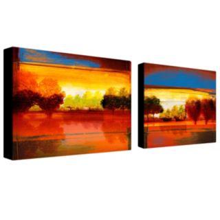 Trademark Fine Art ''Red Dawn'' 2-pc. Wall Art Set