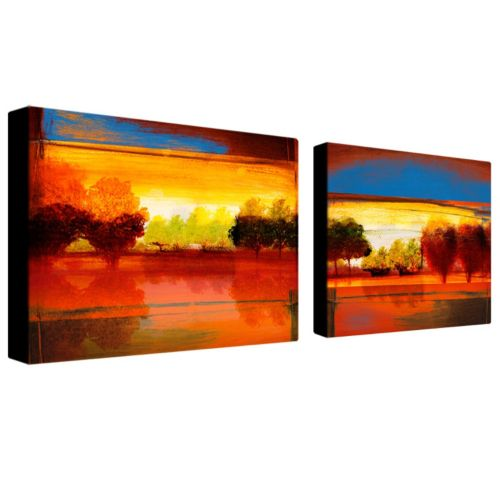 Trademark Fine Art ''Red Dawn'' 2-pc. Wall Art Set
