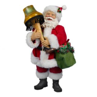 A Christmas Story Leg Lamp Light-Up Fabric Mache Santa