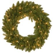 24 in Pre-Lit ''Feel Real'' Avalon Spruce Artificial Wreath