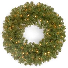 24-in. Pre-Lit Dual LED North Valley Spruce Artificial Wreath