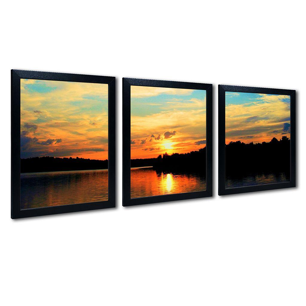 Trademark Fine Art ''Touch The Wind'' 3-pc. Wall Art Set