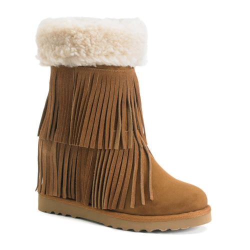 Girl Sleet Women's Fringe Wedge Boots