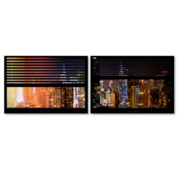 Trademark Fine Art ''Window View Manhattan Night 4'' 2-pc. Framed Wall Art Set