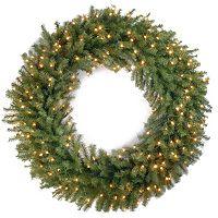 48-in. Pre-Lit Artificial Norwood Fir Wreath