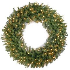 48-in. Pre-Lit Artificial Norwood Fir Wreath