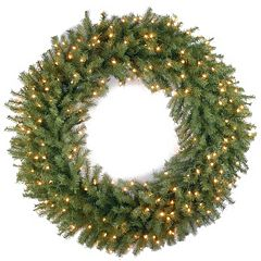 42-in. Pre-Lit Artificial Norwood Fir Wreath