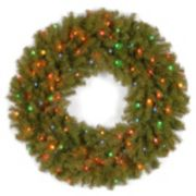 36-in. Pre-Lit Multicolor Artificial Norwood Fir Wreath