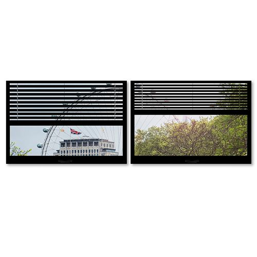 Trademark Fine Art ''Window View The London Eye 4'' 2-pc. Framed Wall Art Set