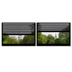 Trademark Fine Art ''Window View London Park 3'' 2-pc. Framed Wall Art Set