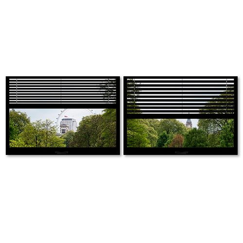 Trademark Fine Art ''Window View London Park 4'' 2-pc. Framed Wall Art Set
