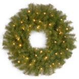 24 in Pre-Lit LED Norwood Fir Artificial Wreath