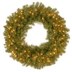 30-in. Pre-Lit Artificial Norwood Fir Wreath