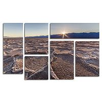 Trademark Fine Art ''Badwater Sunset'' 6-pc. Wall Art Set