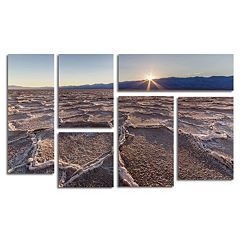 Trademark Fine Art ''Badwater Sunset'' 6 pc Wall Art Set