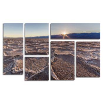 Trademark Fine Art ''Badwater Sunset'' 6-pc. Wall Art Set