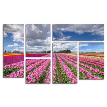 Trademark Fine Art ''Tulip Field'' 6-pc. Wall Art Set