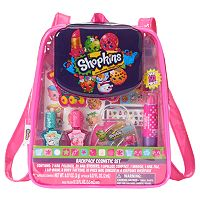 Shopkins Nail Polish, Nail Sticker, Lip Gloss, Lip Balm & Temporary Tattoo Backpack Cosmetic Set