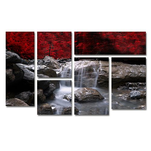 Trademark Fine Art \'\'Red Vison\'\' 6-piece Canvas Wall Art Set
