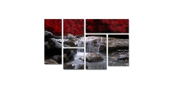 Trademark Fine Art Red Vison 6 Piece Canvas Wall Art Set