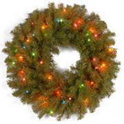 24 in Pre-Lit Artificial Norwood Fir Wreath
