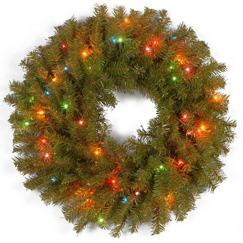 24-in. Pre-Lit Artificial Norwood Fir Wreath