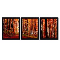 Trademark Fine Art ''The Red Way'' 3-piece Canvas Wall Art Set