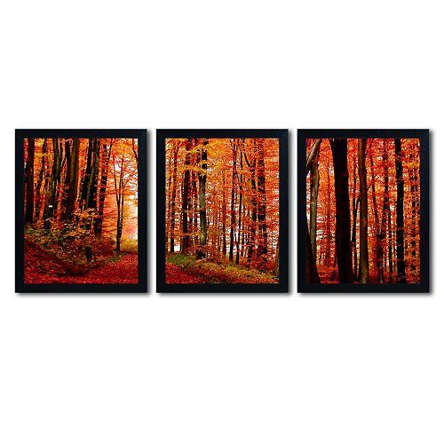 Trademark Fine Art ''The Red Way'' 3-piece Canvas Wall Art Set