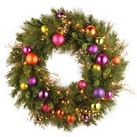 30-in. Pre-Lit LED Artificial Kaleidoscope Wreath