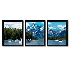 Trademark Fine Art ''Instant Blue'' 3 pc Canvas Wall Art Set