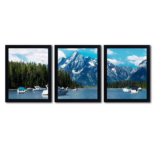 Trademark Fine Art ''Instant Blue'' 3-piece Canvas Wall Art Set