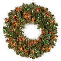 24 in Pre-Lit Multicolor Kincaid Spruce Artificial Wreath