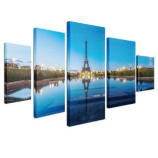 Trademark Fine Art ''Blue Hour'' 5-piece Canvas Wall Art Set