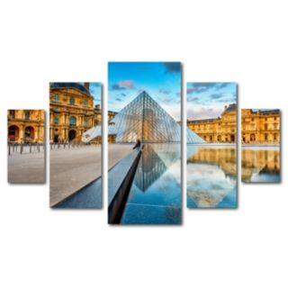 Trademark Fine Art ''Louvre'' 5-piece Canvas Wall Art Set