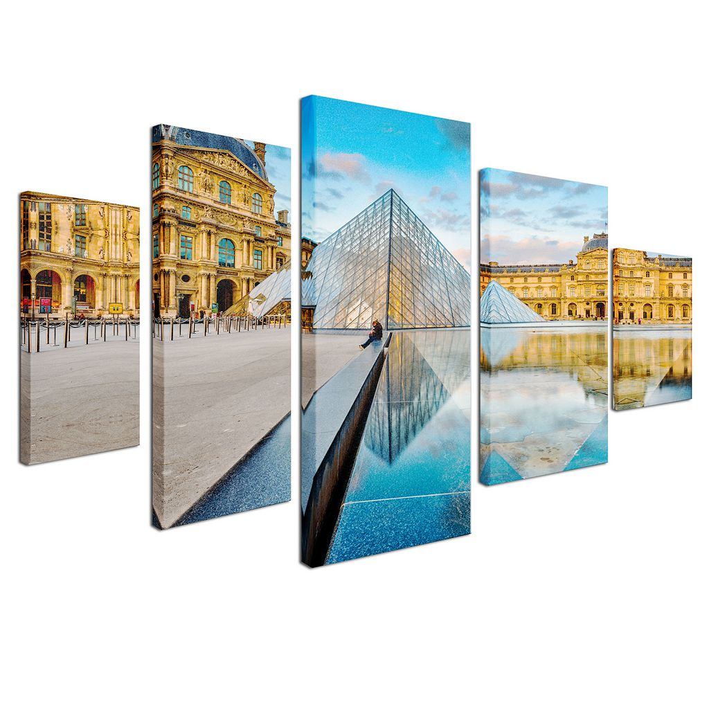 Trademark Fine Art ''Louvre'' 5-piece Canvas Wall Art Set